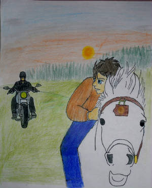 P.T. Boomer pursuing Patch and his horse