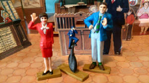 Stacy, Mr. Conductor and Schemer figurines