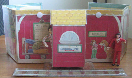 Shining Time playset - rear view