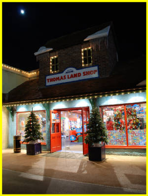 Thomas Land shop decorated for the festive season