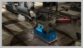 Spencer drops by the Sodor Steamworks to gloat