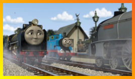 Hiro, Thomas and Spencer stand at the Summer House