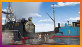 Hiro says goodbye to Thomas and his Sodor friends