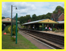 Horsted Keynes station on the Bluebell