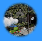 Percy and Whiff head for the tunnel
