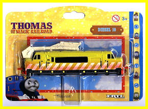 Diesel 10 in Magic Railroad packaging