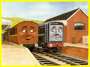 Diesel with Clarabel after saving Thomas's train
