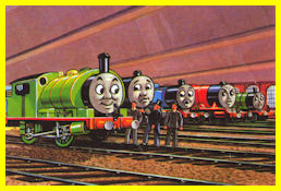 The Fat Controller finds Percy in a Workshop