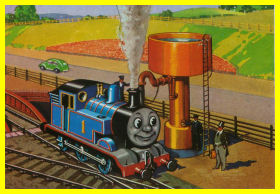 Thomas at the water tower