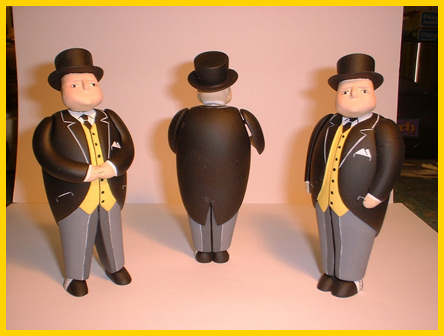 3 poses of The Fat Controller made by Alexandra