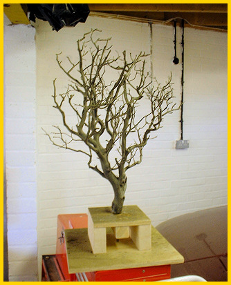 One of the leafless  trees made by Alexandra