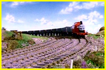 Troublesome Trucks - James achieves his goal