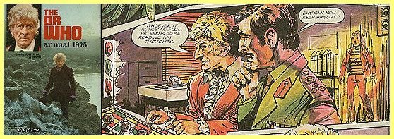 Panel from Dead on Arrival Dr. Who comic strip