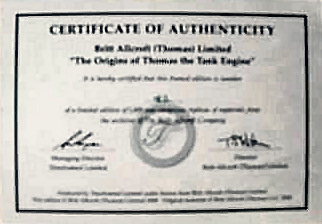 Timeframed Ltd. Certificate of Authenticity