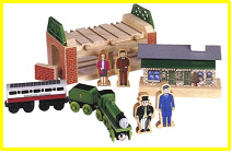 "Wooden Railway ""Come Out Henry"" play set"