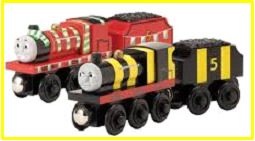Wooden Railway variant James x 2