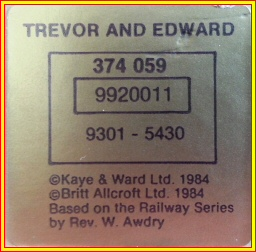 Manuscript Trevor & Edward Print Serial Number