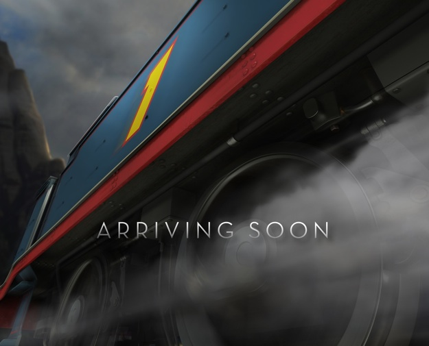 Teaser poster art for upcoming Thomas theatrical