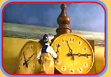 Mr. Conductor cleans the Station clock