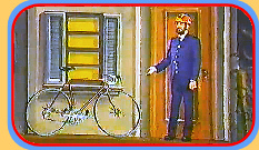 Mr. Conductor's bike needs exercising!