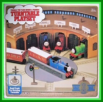 ERTL Gold Rail Turntable Playset  (# 4718) front